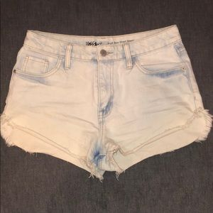Light Wash Faded Jean Shorts